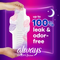 Always Radiant FlexFoam Size 4 Scented Overnight Pads with Wings