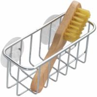 InterDesign Sink Works Suction Sink Sponge Holder - Silver