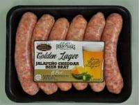 Denmark Sauage Golden Lager Jalapeno Cheddar Beer Brat - 6 pk / 24 oz