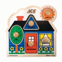 Ace Wooden Peg Puzzle - 1 ct