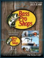 Bass Pro Shops $15-$500 Gift Card - After Pickup, visit us online to activate and add value