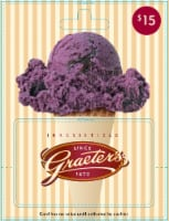 Graeter's $15 Gift Card – Activate and add value after Pickup - $0.10 removed at Pickup