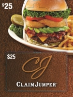 Claim Jumper $25 Gift Card – Activate and add value after Pickup