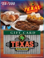 Texas Roadhouse $25-$100 Gift Card – Activate and add value after Pickup