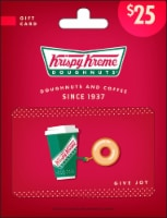 Krispy Kreme $25 Gift Card – Activate and add value after Pickup