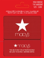 Macys $25-$200 Gift Card – Activate and add value after Pickup