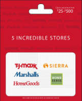 TJ Maxx $25-$500 Gift Card – Activate and add value after Pickup