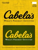 Cabela's $15-$500 Gift Card – Activate and add value after Pickup