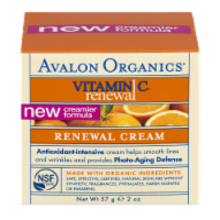 Avalon Organics Vitamin C Renewal Cream - 2 oz