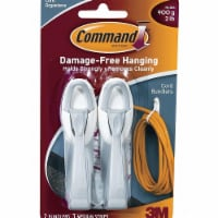 Command Single Point Hook,Molded Plastic,1In,PK2  17304 - 1