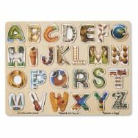 Melissa And Doug Wooden Alphabet Art Puzzle