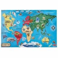 Lights Camera Interaction Lci446 Floor Puzzle World Map - 1