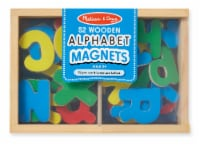 Melissa & Doug® Wooden Alphabet Letter Magnets 52 Pieces