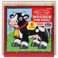 Melissa & Doug® Farm Scenes Wooden Cube Puzzle - 16 pc