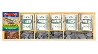 Melissa & Doug LCI1273 1.9'' x 10.3'' x 17'' Play Money Set - cash drawer