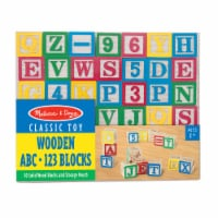 Melissa & Doug® Wooden ABC 123 Blocks - 50 pc