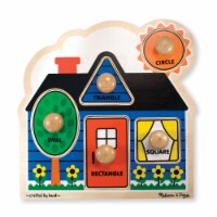Melissa & Doug First Shapes Jumbo Piece Wooden Puzzle