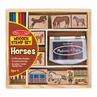 Melissa & Doug® Horses Wooden Stamp Set - 1 ct