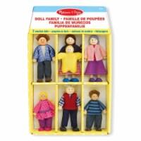 Melissa And Doug 7 Piece Doll Family Play Set - 1 Unit
