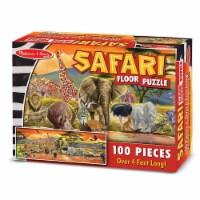 Melissa And Doug Safari 100 Piece Floor Puzzle