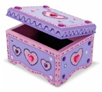 Melissa & Doug® Decorate-Your-Own Jewelry Box - 1 Count