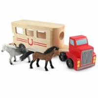 Melissa And Doug Classic Toy Wooden Horse Carrier Play Set - 1 Unit
