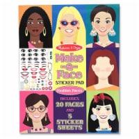 Melissa And Doug Fashion Make-A-Face Sticker Pad - 1 Unit