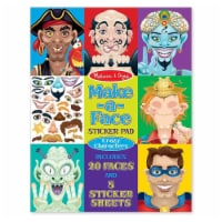 Melissa & Doug® Make-a-Face Sticker Pad - Crazy Characters