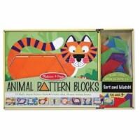 Melissa And Doug Animal Pattern Blocks Set