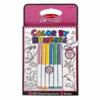 Melissa And Doug On The Go Color By Numbers Pink With Markers Set