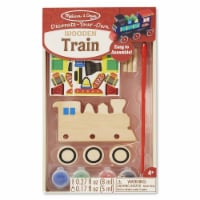 Melissa And Doug Decorate Your Own Wooden Train Craft Set