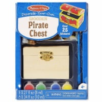 Melissa And Doug Decorate Your Own Wooden Pirate Chest Craft Set - 1 Unit