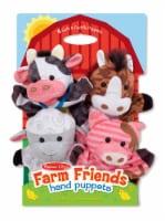 Melissa & Doug® Farm Friends Hand Puppets - 4 pk