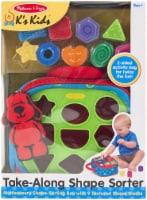 Melissa and Doug® Take-Along Shape Sorter Baby and Toddler Toy Set
