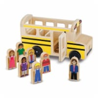 Melissa And Doug Classic Toy Wooden School Bus Play Set - 1 Unit