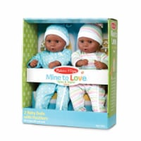Melissa & Doug Mine to Love Twins - Tyler & Taylor Dolls with Pacifiers