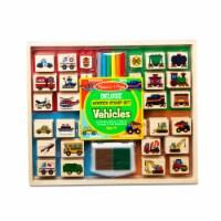 Melissa & Doug® Vehicles Deluxe Wooden Stamp Set