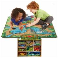Melissa & Doug Prehistoric Playground Rug & Bonus Dinosaur Party Set