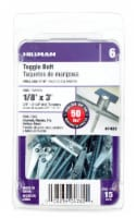 Hillman 1/8 Inch x 3 Inch Steel Toggle Bolt - 15 ct