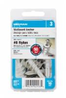 Hillman #8 Nylon Self Drilling Wallboard Anchor - 10 ct