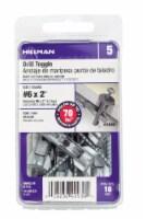 Hillman #6 x 2 Inch Heavy Duty Self Drilling Anchor - 10 ct