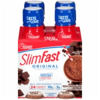 SlimFast Original Rich Chocolate Royale Ready to Drink Meal Replacement Shakes - 4 bottles / 11 fl oz