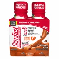 SlimFast® Advanced Nutrition Caramel Latte High Protein Meal Replacement Shakes - 4 bottles / 11 fl oz