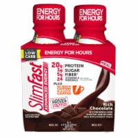 SlimFast® Advanced Energy Rich Chocolate Meal Replacement Shakes - 4 bottles / 11 fl oz