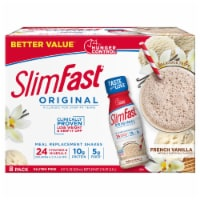 SlimFast Original French Vanilla Meal Replacement Shakes - 8 bottles / 11 fl oz
