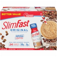 SlimFast Original Cappuccino Delight Meal Replacement Shakes - 8 bottles / 11 fl oz