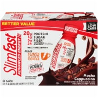 SlimFast Advanced Energy Mocha Cappuccino Meal Replacement Shake - 8 bottles / 11 fl oz
