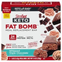 SlimFast Keto Whipped Triple Chocolate Whey Protein Meal Bar