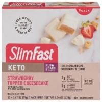 SlimFast® Keto Fat Bomb™ Mini Strawberry Cheesecake Bars - 12 ct / 0.67 oz