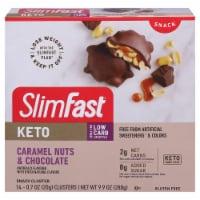SlimFast Keto Fat Bomb Caramel Nut Clusters